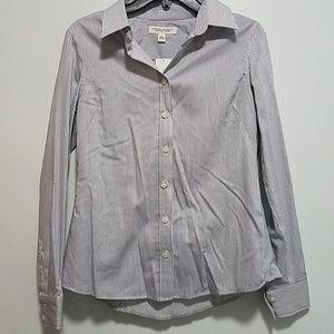 NWT Banana  Republic  Non Iron fitted shirt, 4